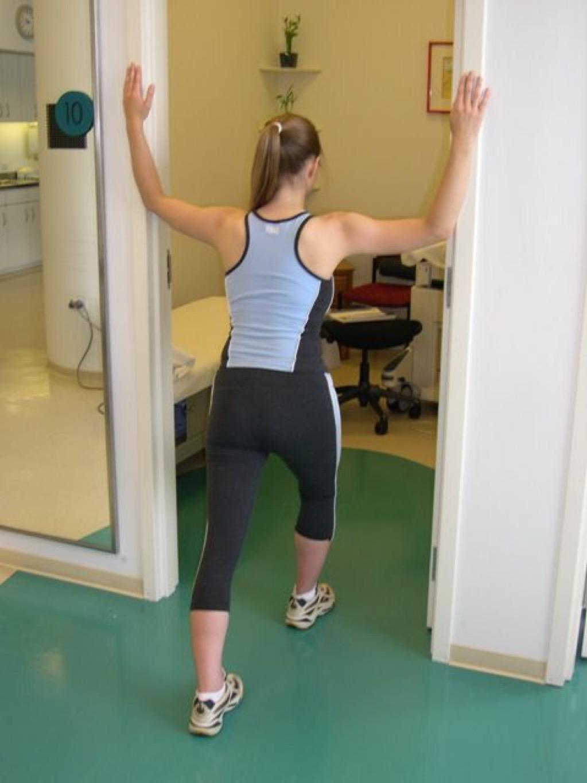 doorway stretch over 40 fitness