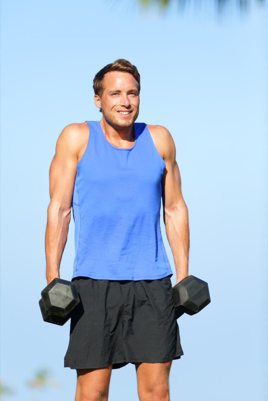 dumbell lift over 40 fitness