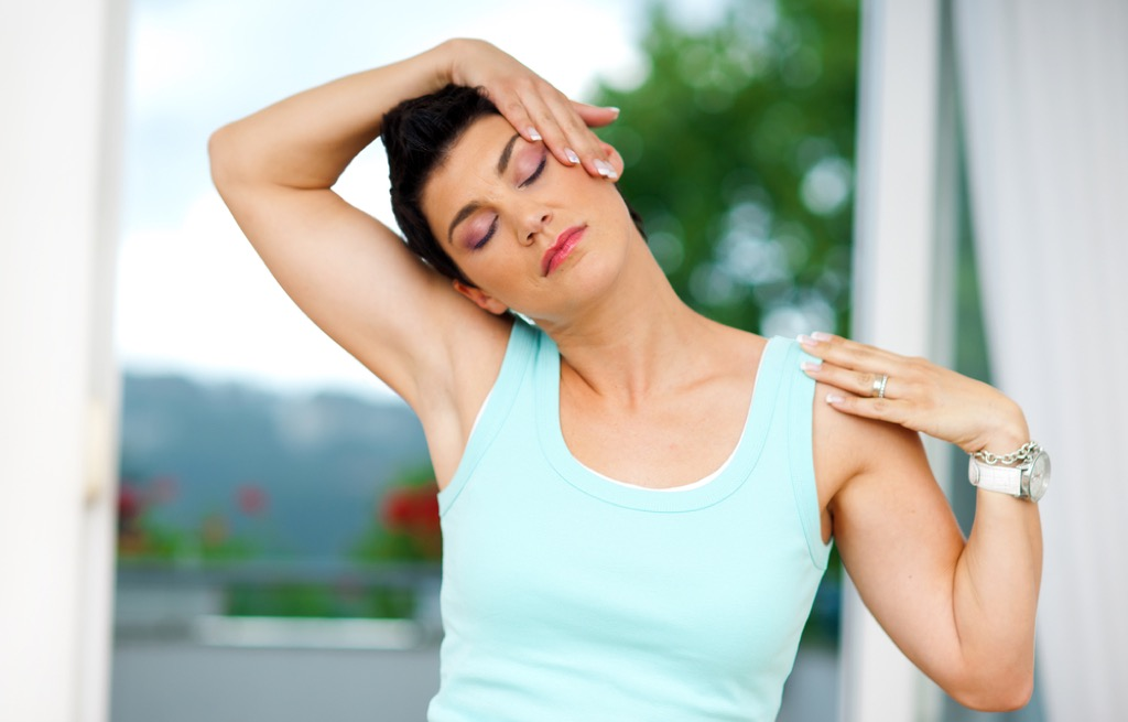 neck stretch over 40 fitness