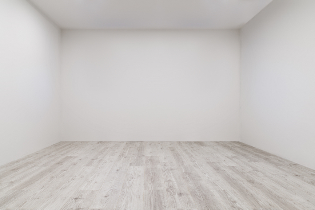 Empty room with white walls and wood floor