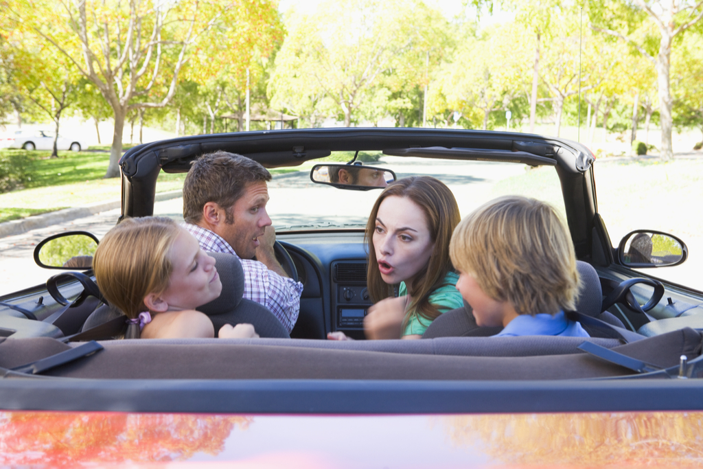Family Arguing in Car Worst Things to Say to Kids