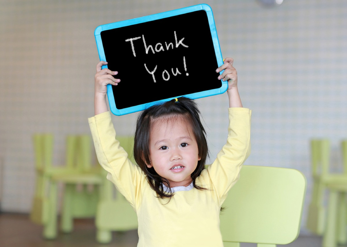 young girl saying thanks things grandparents should never do