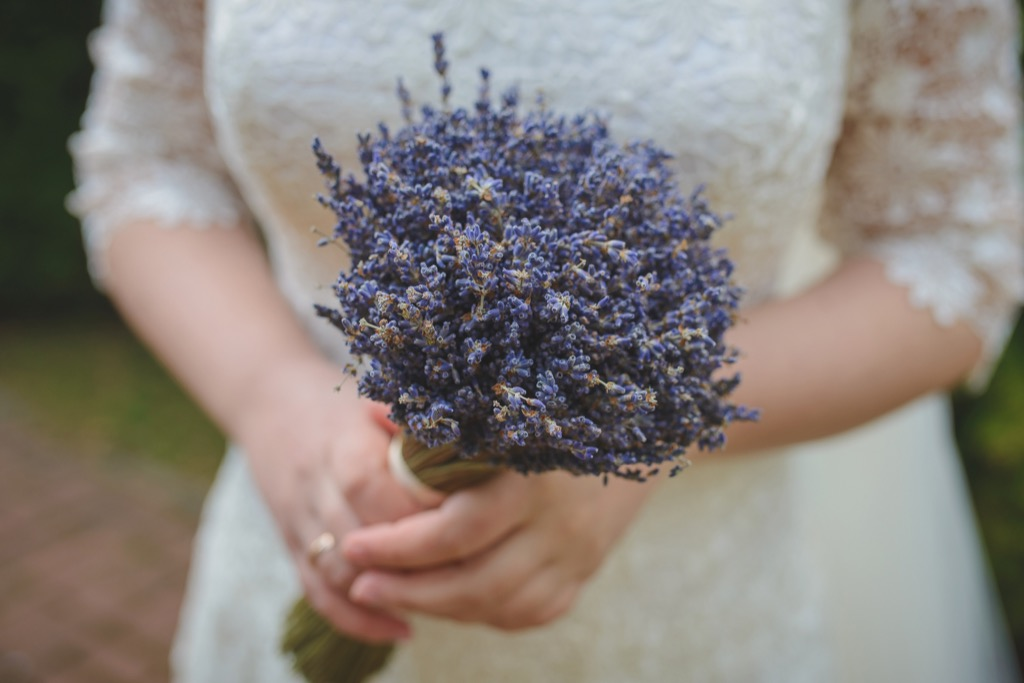 lavender bouquet 20 Old-Fashioned Wedding Traditions That Nobody Does Anymore