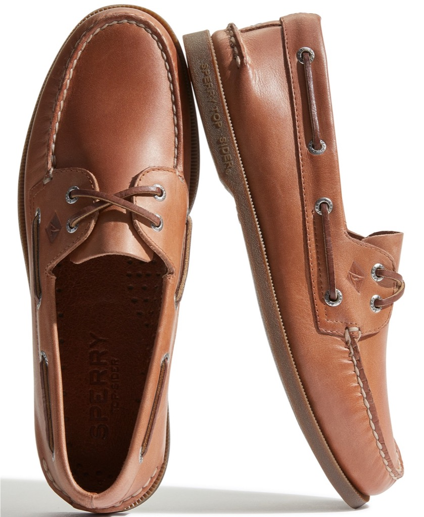 leather sperry topsiders