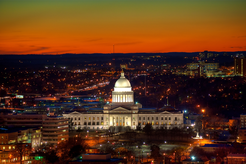 Little Rock Arkansas state capitol buildings