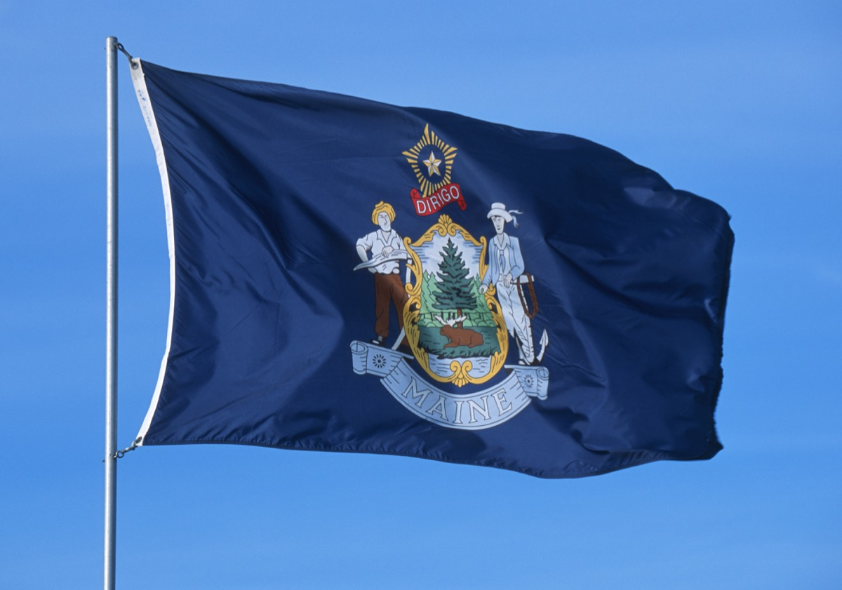 state flag of maine state flag facts