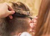 man getting haircut, make yourself more attractive