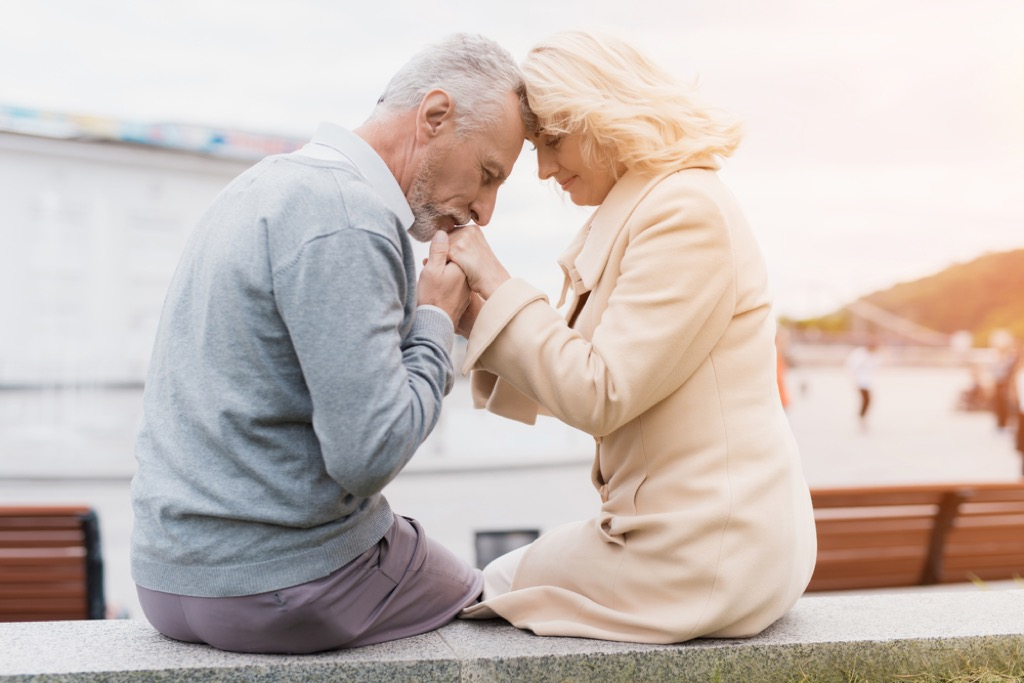 older couple kissing {priorities after 50}