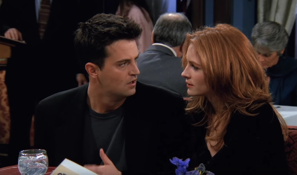 Matthew Perry and Julia Roberts on Friends