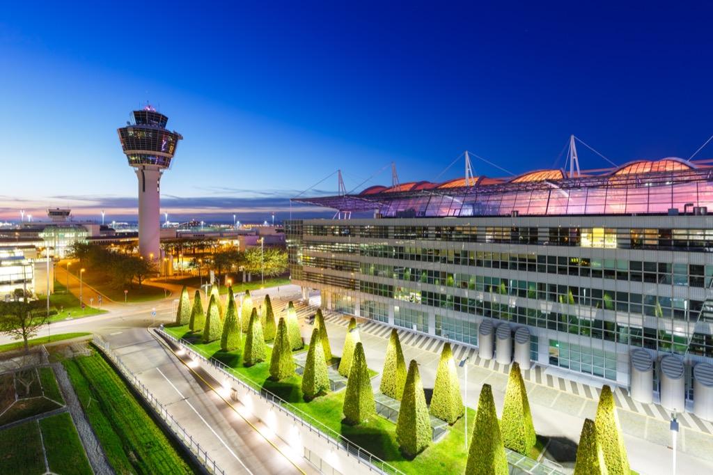 exterior of munich international airport