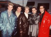 n'sync with frosted tips in the 1990s