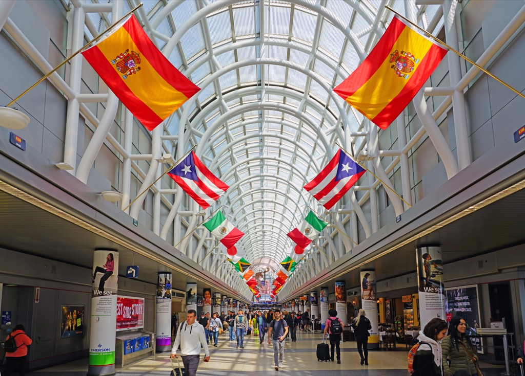 hall of flags at o'hare intenational airport