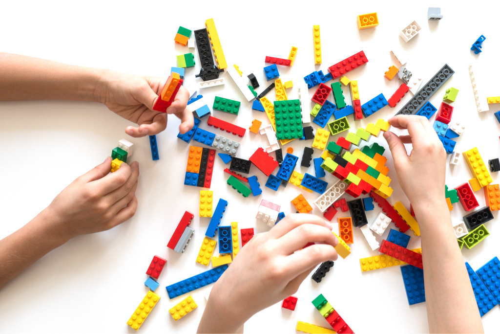 Playing with Lego Blocks {Best Impulse Buys From Walmart}