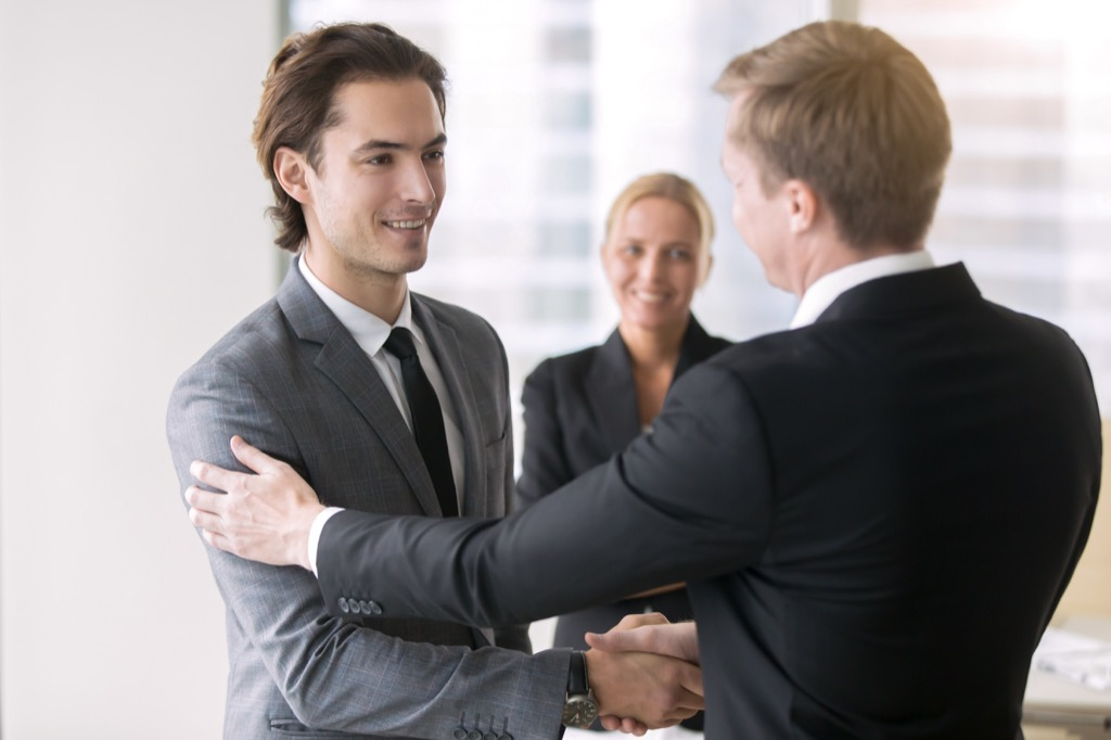 man getting a promotion at work New Year's Resolutions
