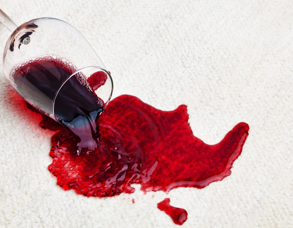 Red wine spill old wives tales  - old wives' tales