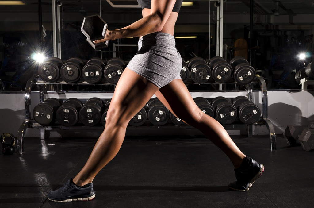 reverse lunge bicep curl over 40 fitness