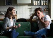 roommates talking on a sofa