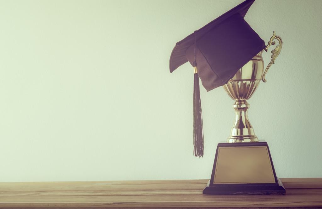 Trophy award from school