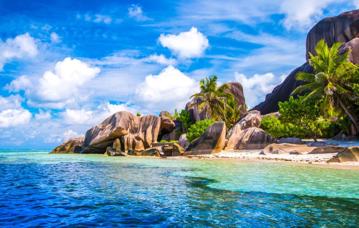 seychelles island coastal view