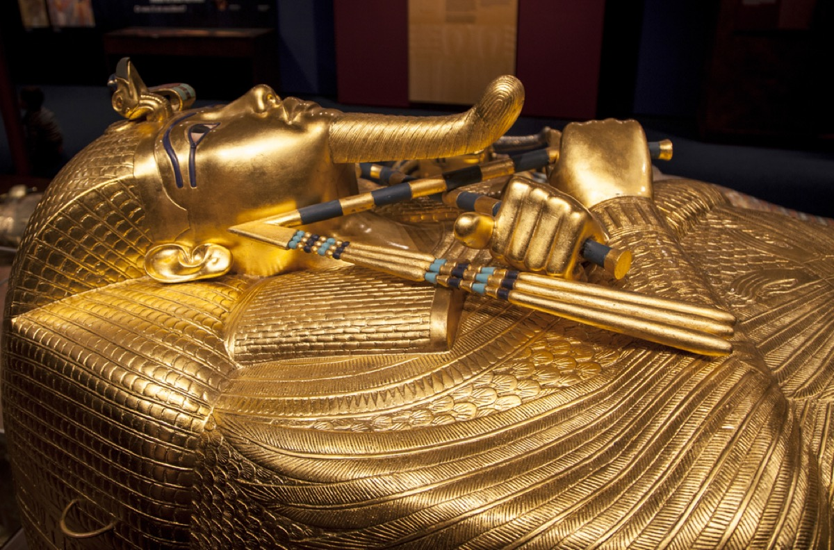 close up of sarcophagus of king tut