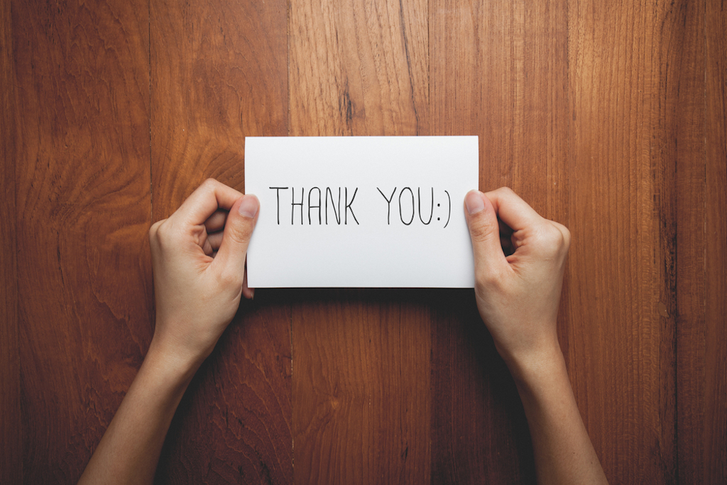 thank you card be a better partner