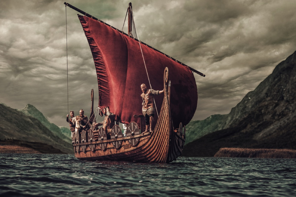 viking ship sailing on the water