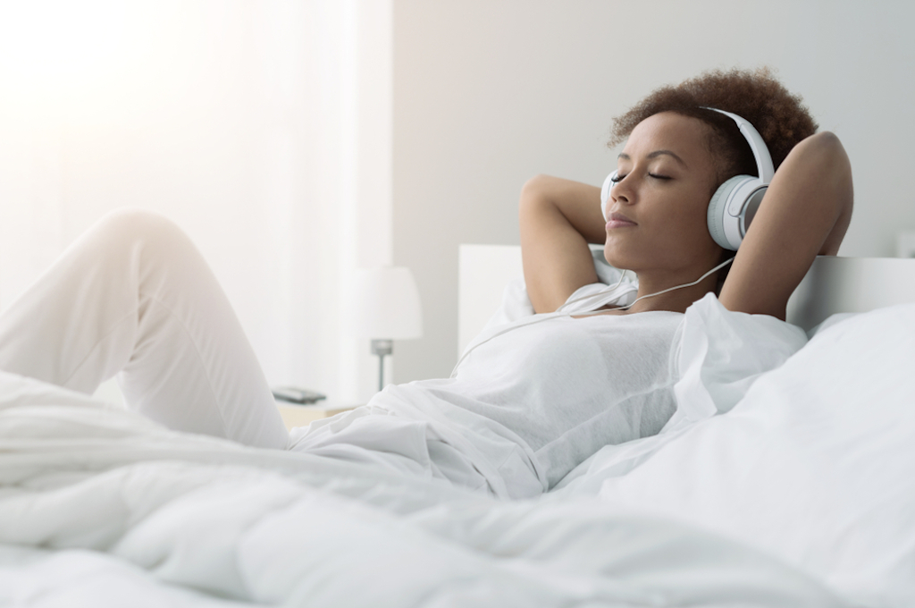 listening to yoga music before bed helps you sleep, study says.