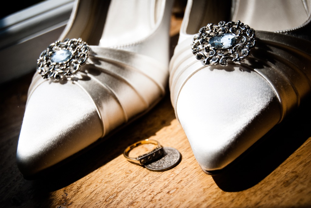 sixpence bride shoe 20 Old-Fashioned Wedding Traditions That Nobody Does Anymore