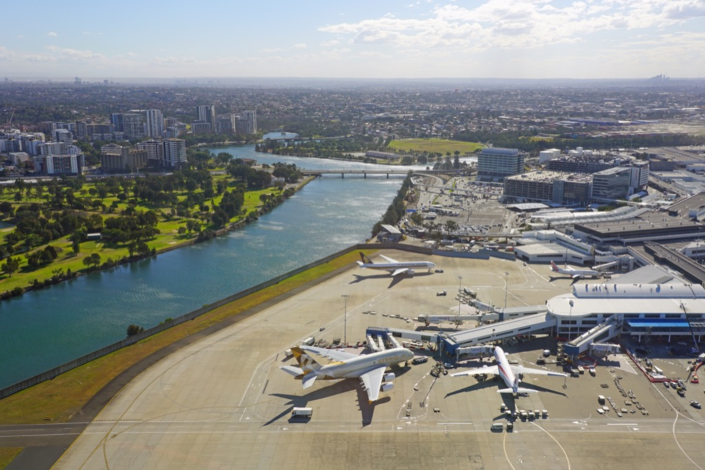 aerial view of sydney international