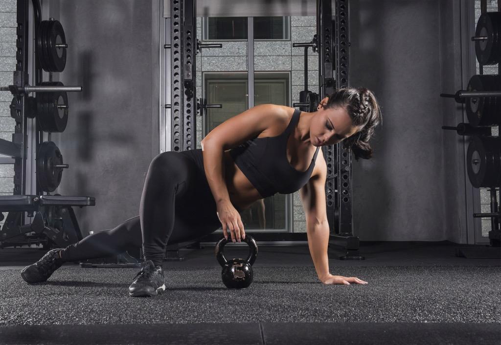 turkish kettlebell lift over 40 fitness
