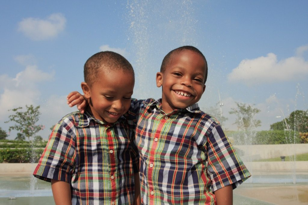twin children