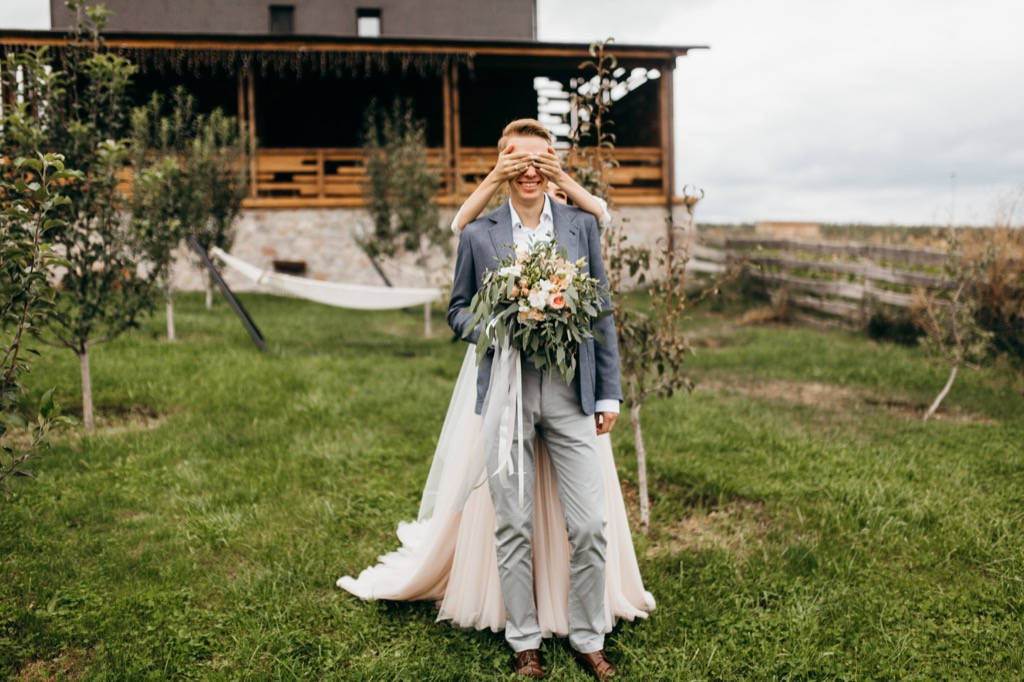 wedding first look 20 Old-Fashioned Wedding Traditions That Nobody Does Anymore