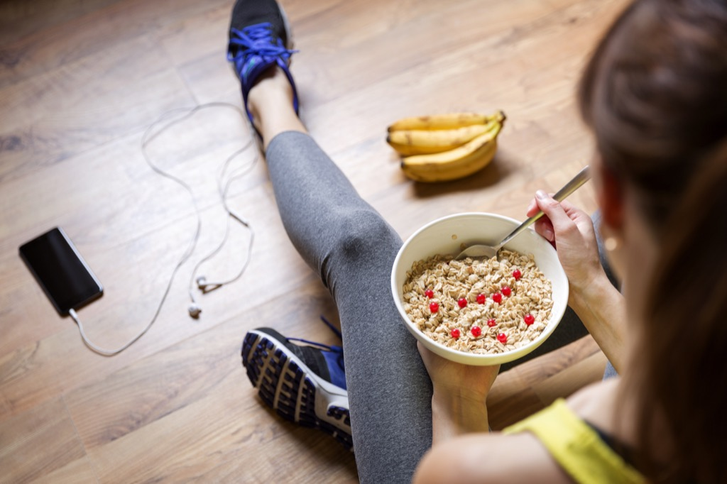 Woman Eating Healthy Dealing with Holiday Stress