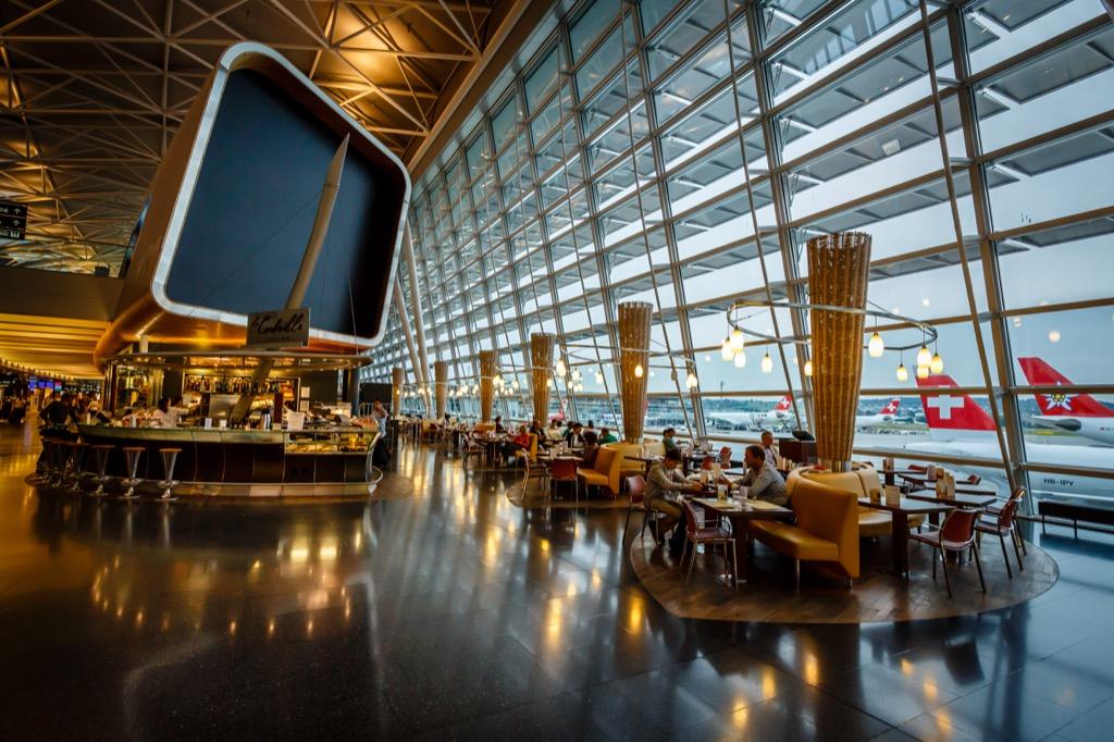 interior of zurich airport