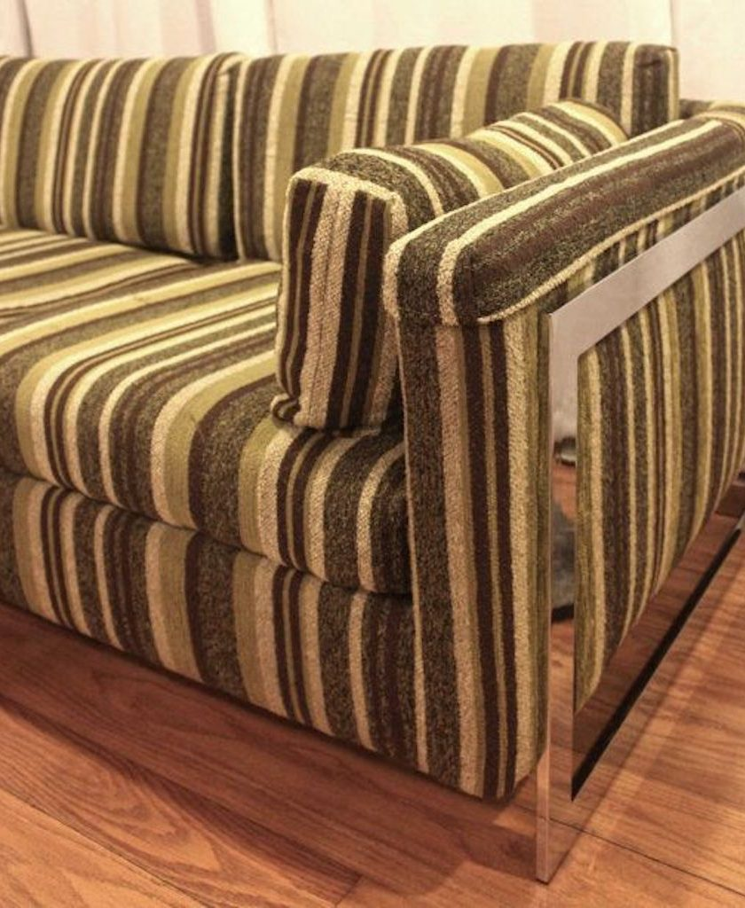 1960s Striped Couch Worst Home Decorating Trends