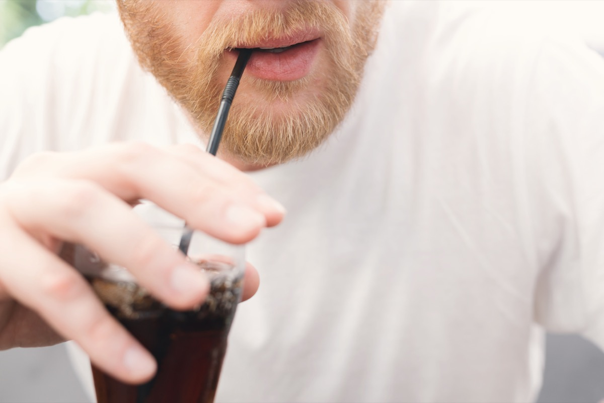 Red Haired Man Drinking Soda, things that would horrify your dentist