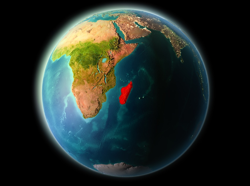 africa globe madagascar