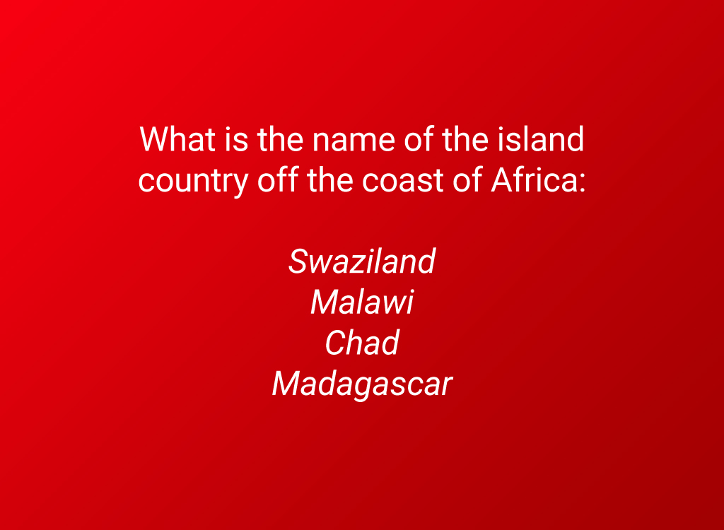 africa island country question