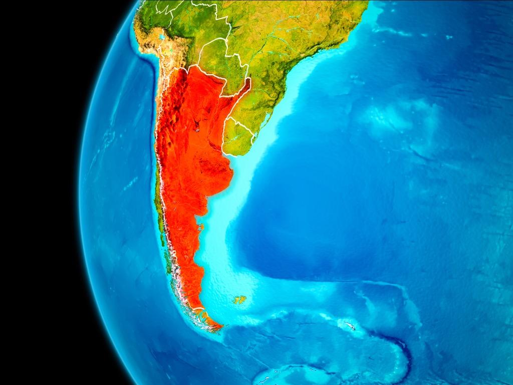 argentina satellite view