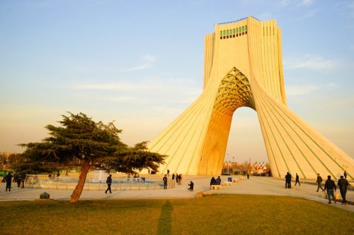 azadi tower in tehran iran
