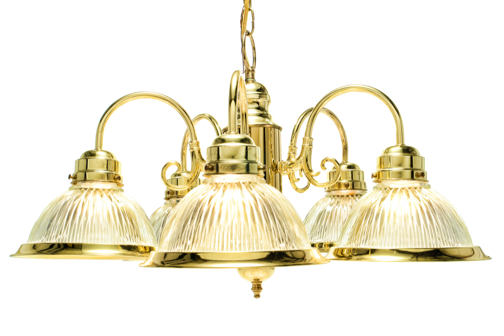 Brass Hanging Light 1990s Worst Home Decorating Trends