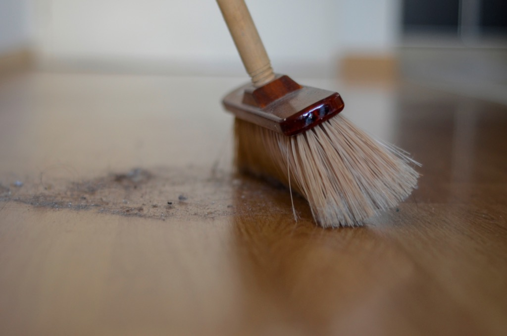 broom and dust