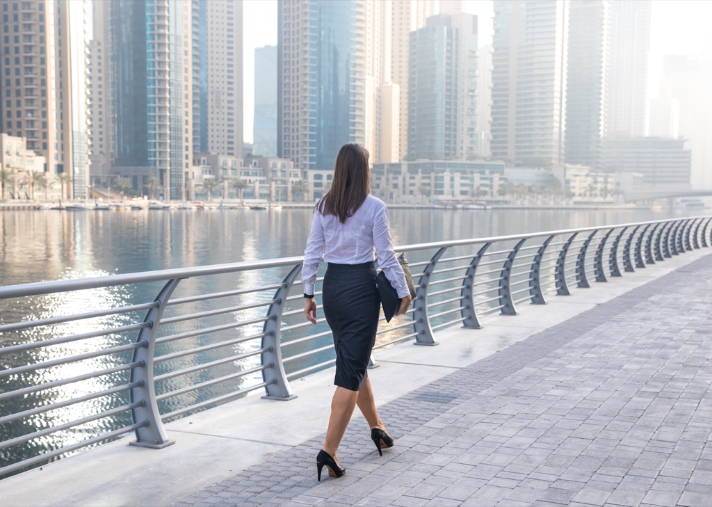 woman wearing business clothes ways to get a promotion after 40