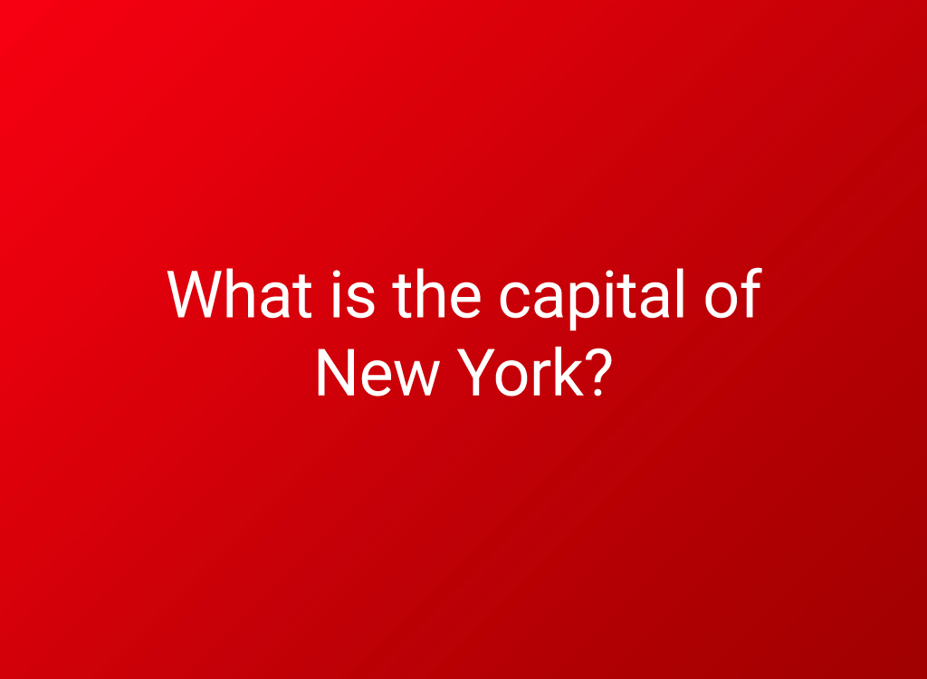 capital of ny state question