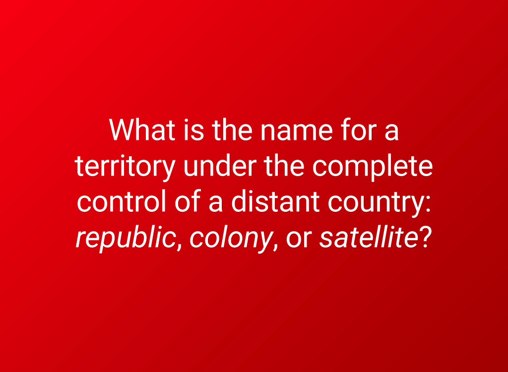 colony question 6th grade geogrpahy
