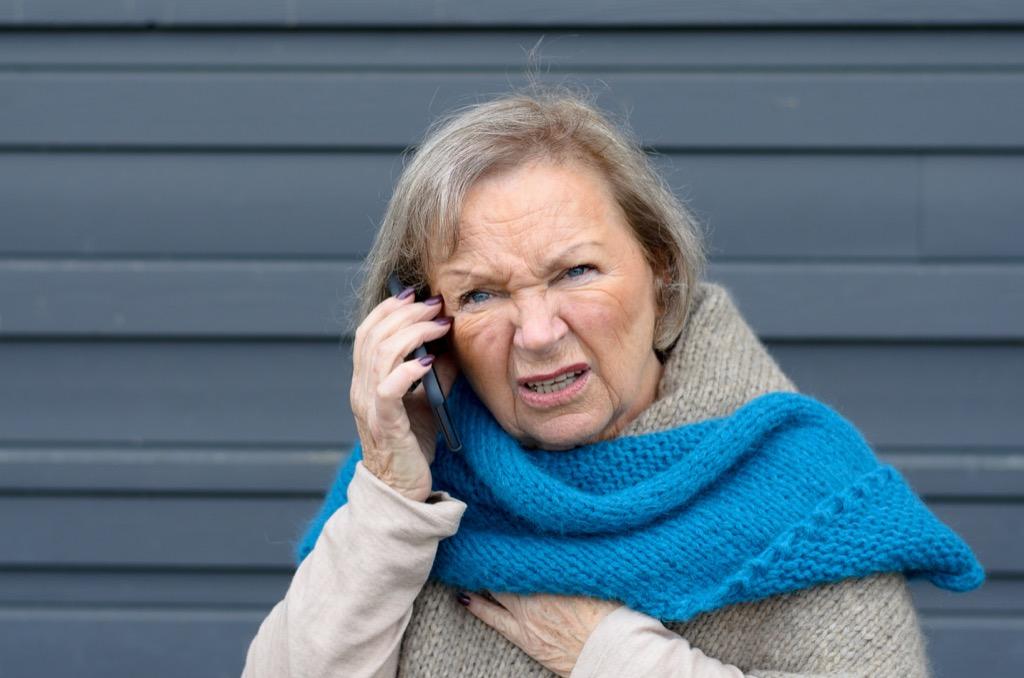 Senior woman speaking on cell phone