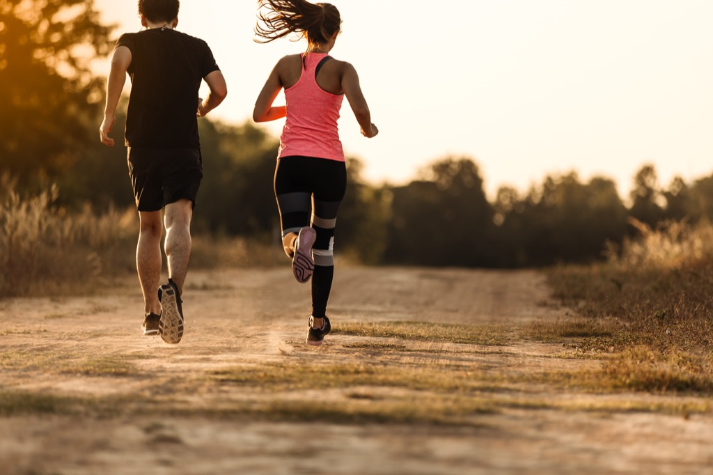 Couple Running in the Fall habits linked to a longer life