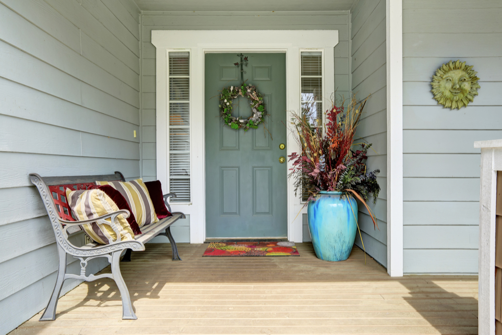 Decorated Front Porch Boosting Your Home's Curb Appeal