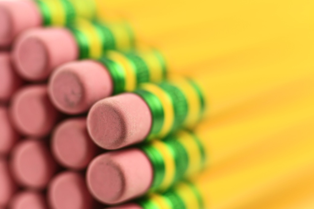ends of pencils