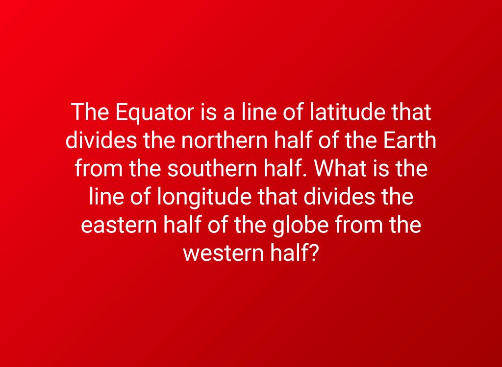 equator question